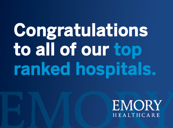 U.S. News and World Report Ranks Emory University Hospital No. 1 in Ga.