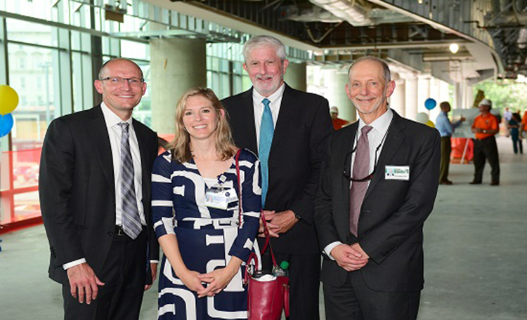 Bryce Gartland (EUH CEO), Carla Chandler (EUH CFO), Bob Bachman (executive director, EUH expansion), Bill Bornstein (chief medical officer, Emory Healthcare)